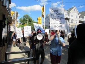 Comet Cafe protest