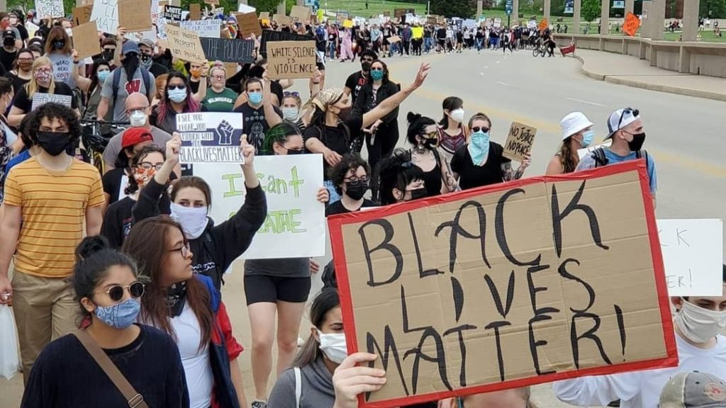 Milwaukee protest march
