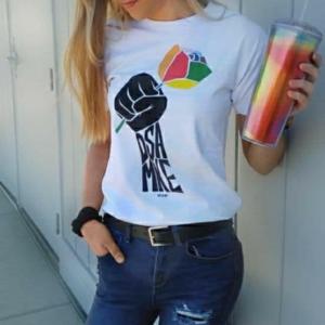 Model in Pride tee